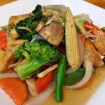 Vegan mixed veggies stir-fry