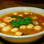 Prawn hot & sour soup